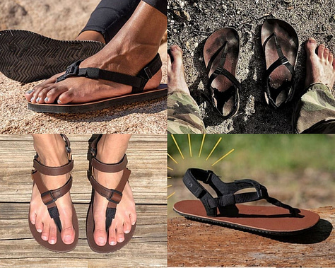 Shamma Sandals Super Goats, Warriors, and Chargers elite running minimalist sandals