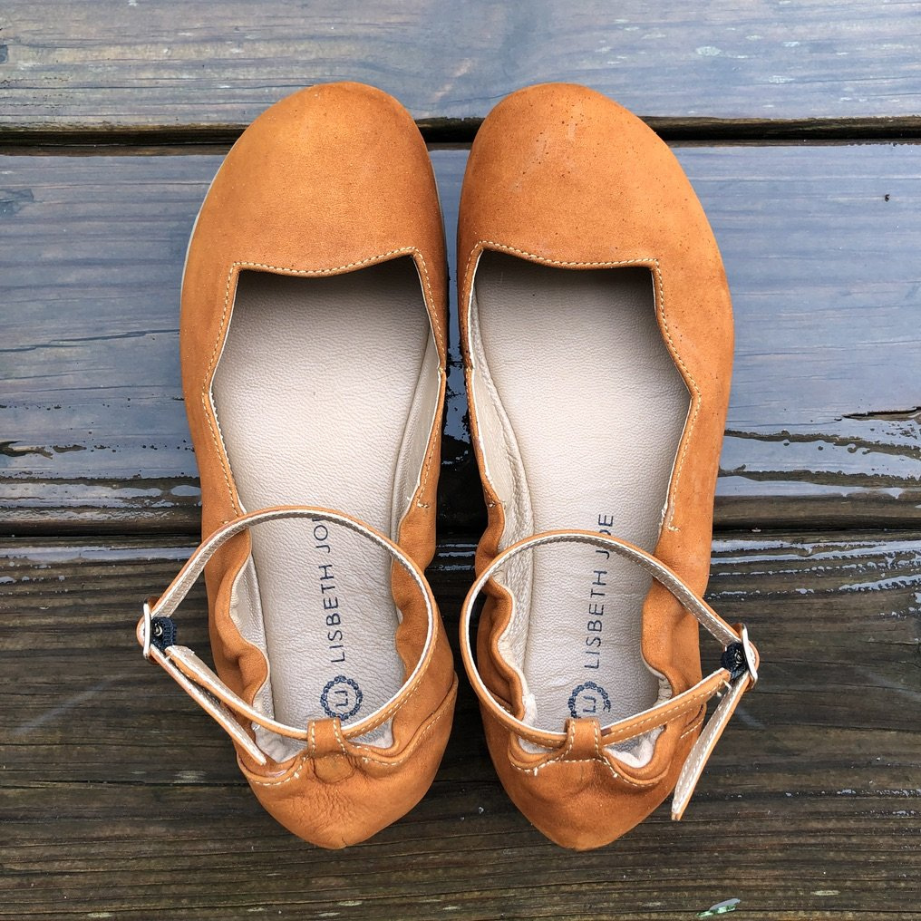 discount code for barefoot shoes at lisbeth joe ballet flats - close up