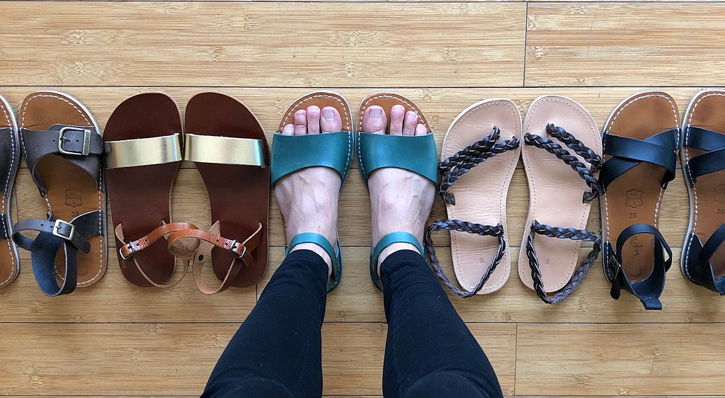 Assortment of barefoot and minimalist shoes