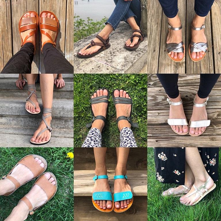 Minimalist barefoot summer sandals for women