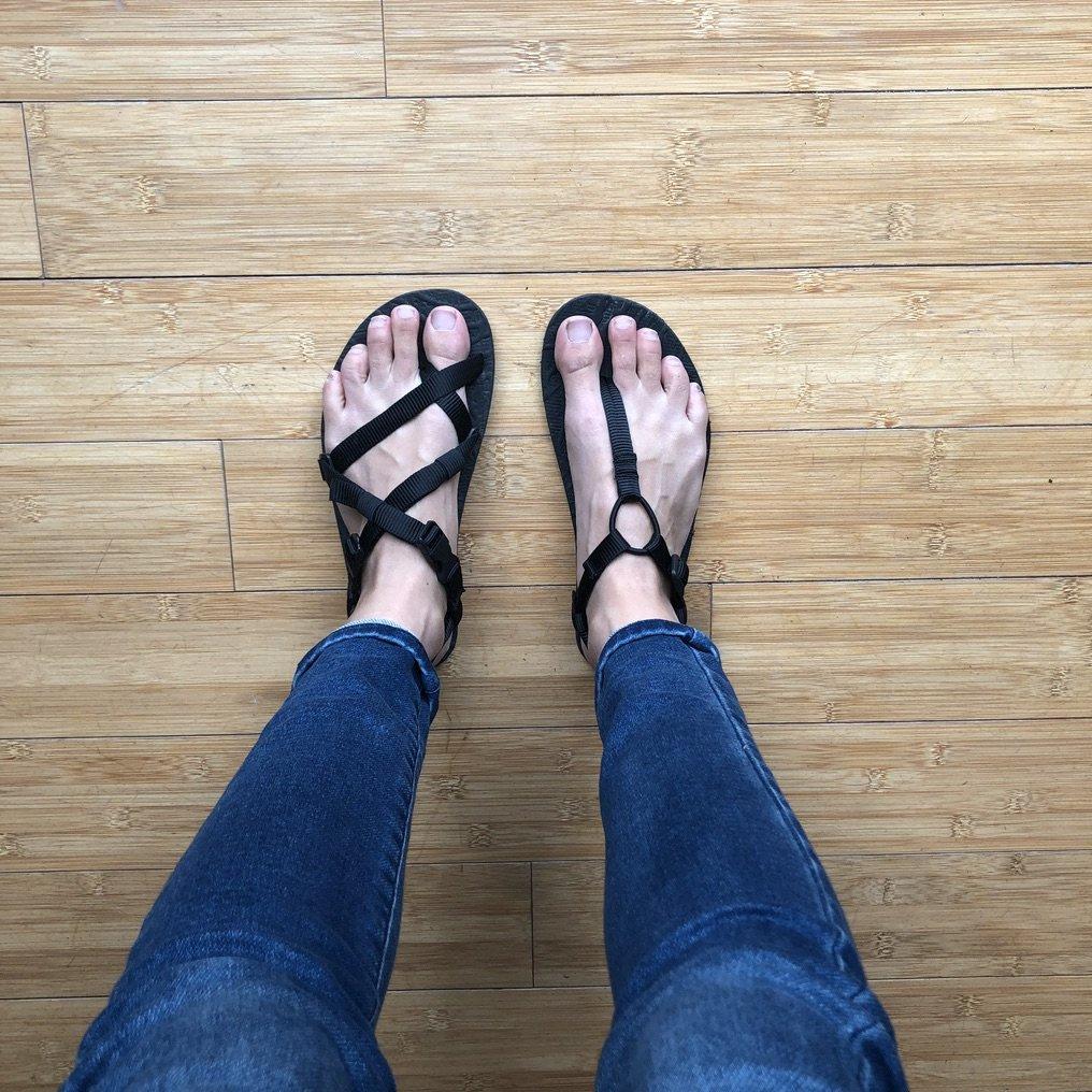 Unshoes footwear Uinta and Keota side by side