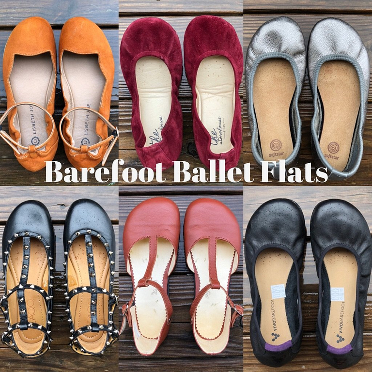 barefoot ballet flats brands collage